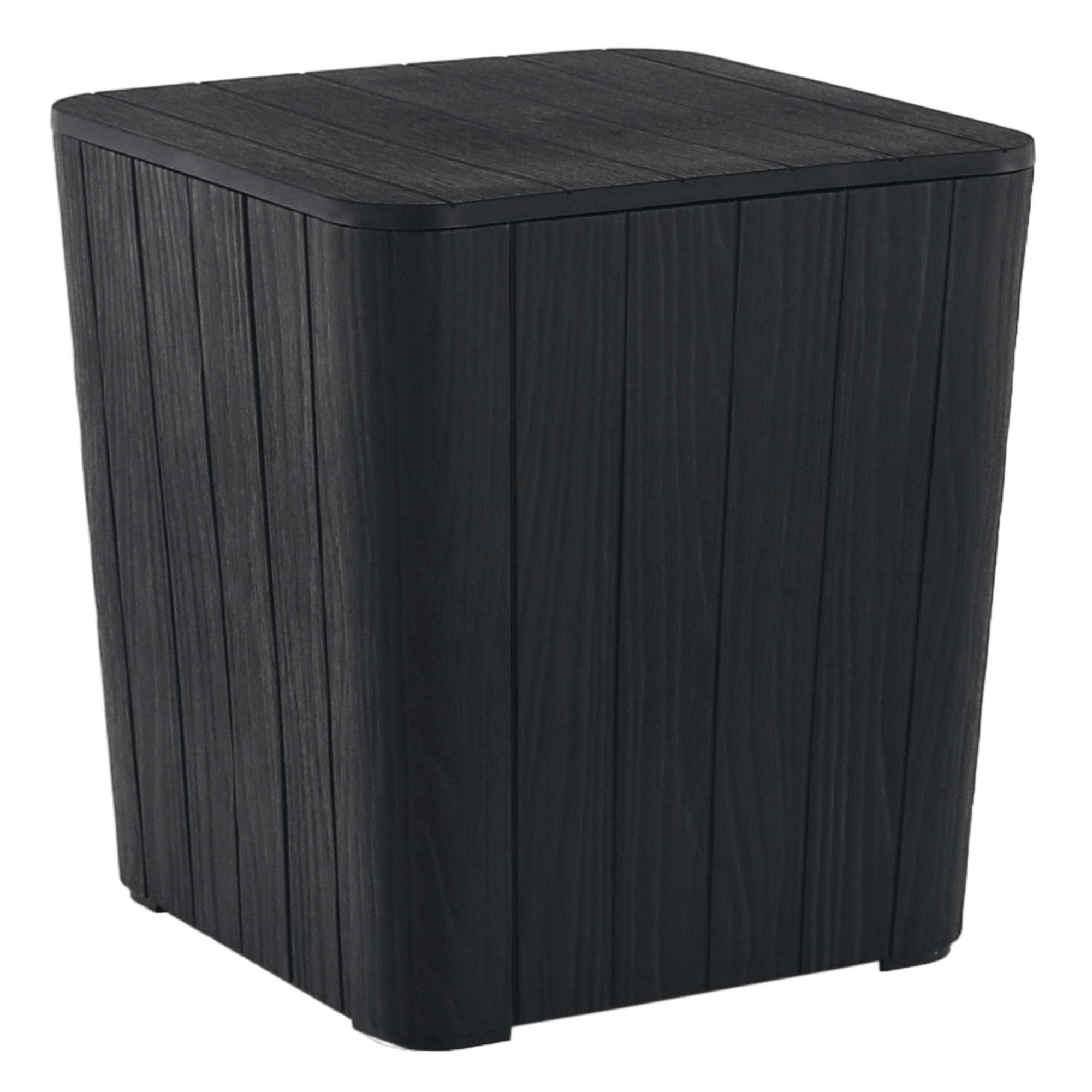 Záhradný úložný box/príručný stolík