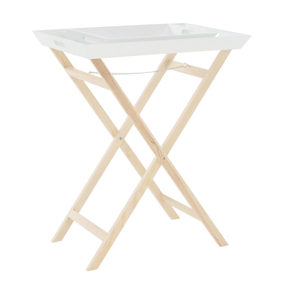 Servírovací stolík s dvomi snímateľnými táckami