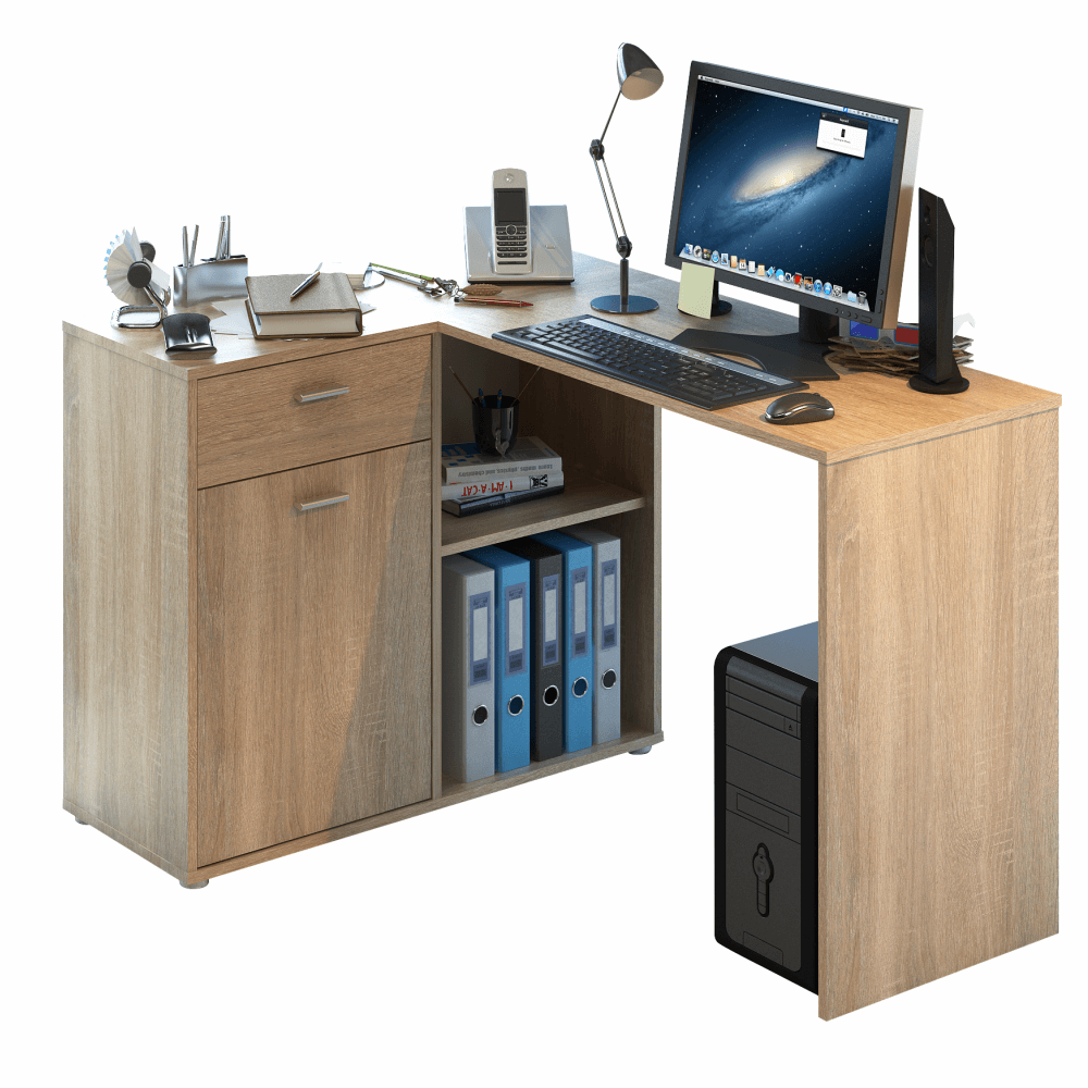 Rohový PC stôl