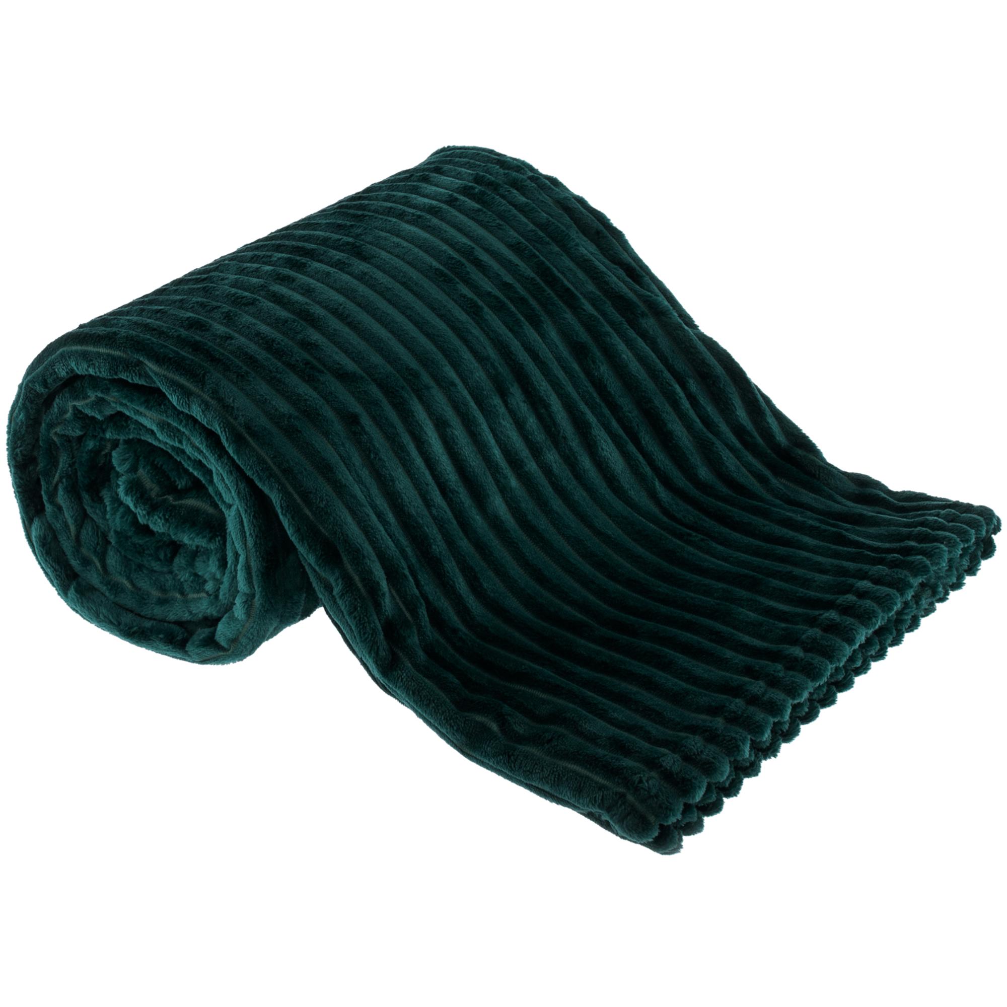 Plyšová pruhovaná deka
